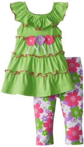 Kids Headquarters Girls 2-6X Flower Printed Legging Set