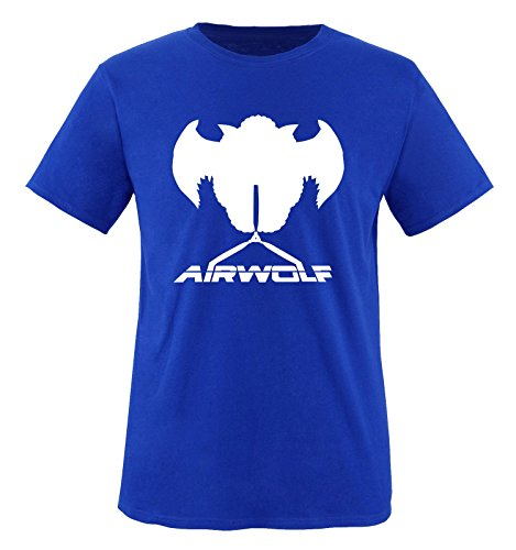 Courtes Air Homme T Weiss Manches shirt wolf Bleu Royalblau OqxOnrPw