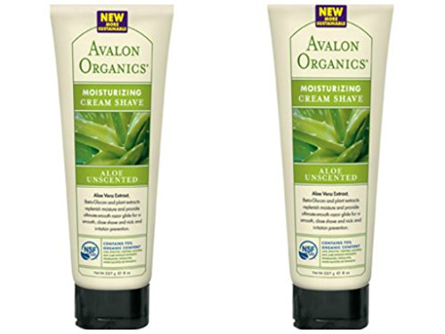 Cream Unscented Shaving Shaving (Avalon Organics Aloe Unscented Moisturizing Cream Shave 8 oz (Set of 2))