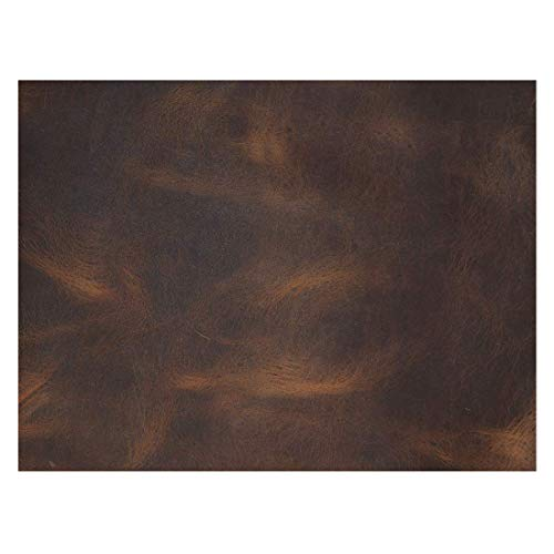 Hide & Drink, Leather Square (6 x 8 in.) for Crafts/Tooling/Hobby Workshop, Medium Weight (1.8mm) :: Bourbon Brown