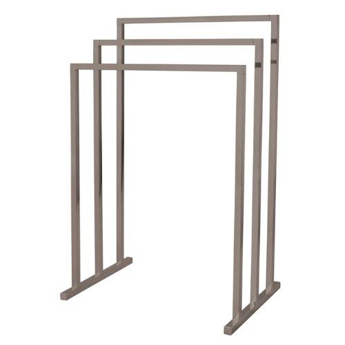 Kingston Brass SCC8288 Pedestal 3-Tier Steel Construction Towel Rack, Brushed Nickel