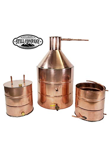 20 Gallon Copper Moonshine Whiskey & Brandy Still with Ball Valve Drain Port, 5 Gallon Worm, 5 Gallon Thumper, 1/2 OD Copper Tubing by North Georgia Still Company by North Georgia Still Company (Image #7)