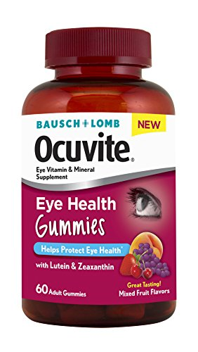 Bausch + Lomb New Ocuvite Eye Health Gummies with Lutein, Zeaxanthin and other Antioxidants, 60 Count (Lomb Eye)