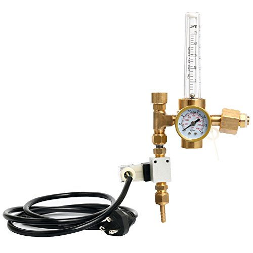 YaeTek Hydroponics CO2 Regulator Emitter System with Solenoid Valve, CO2 Grow Plant Regulator/Flow Gauge Valve, Flow Meter Made of (Hydroponic Systems Accessories)