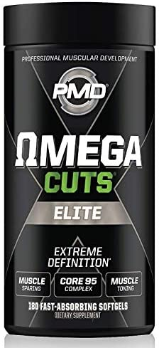 PMD Sports Omega CUTS Elite – Thermogenic Fat Burner – Zero Stimulant Omega Fatty Acid and CLA Formula for Muscle Definition and Maintenance Keto Friendly for Women and Men 180 Softgels