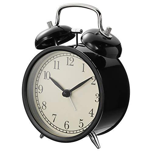 IKEA DEKAD Alarm Clock, Black 204.040.00 (Black Old Fashion Alarm Clock)