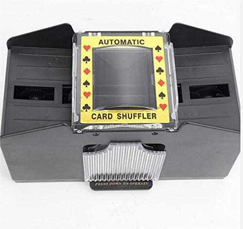 Avicii Fovever ZZ Automatic Poker Card Shuffler,1-2 Decks Poker Shuffles Card Shuffler Machine Battery-Operated Electric Shuffler for Home Party Club,Black