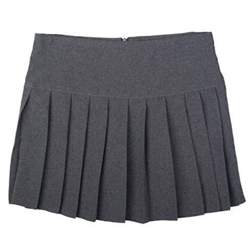 Femmes Only Plisse Court Fille Travail Uniform Uniforme cole Jupe Gris Britney Bas Vtement q4vEnZnzxw