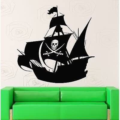 V-studios Wall Stickers Vinyl Decal for Kids Room Pirate Ship Baby Nursery VS516: Home & Kitchen
