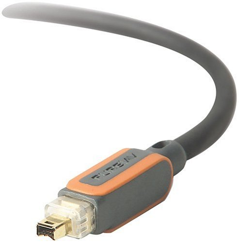 Firewire Cable 12' (Belkin BKNAV2200212 PureAV Digital Camcorder FireWire Cable FireWire 4-Pin to 4-Pin 12 Feet)