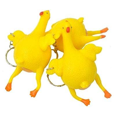 Kekailu Chicken Toy,Funny Tricky Chicken Toy Ventilation Hen Egg Keychain Stress Relieving Gift: Home & Kitchen