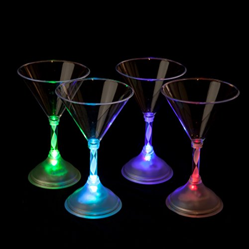 Martini Glasses With Led Lights