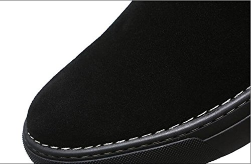Men with high velvet warm winter boots all-match British short boots for Martin,39 black by ZRLsly (Image #5)