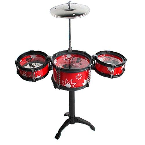 Baoblaze Jouet Mini Instrument de Musique 3 Jazz Tambours Jeu Amusant pour Enfant - Rouge # 1