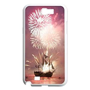 Brilliant fireworks Wholesale DIY Cell Phone Case Cover for Samsung Galaxy Note 2 N7100, Brilliant fireworks Galaxy Note 2 N7100 Phone Case
