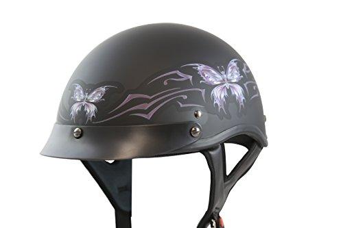 Flat Black Motorcycle Helmet - 9