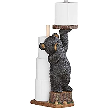 "Northwoods Bear Cub Toilet Paper Holder, 22""H"