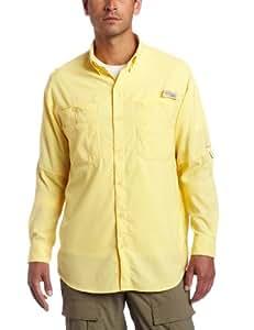Columbia Men's Tamiami II Long Sleeve Fishing Shirt (Lemon Whip, Medium)