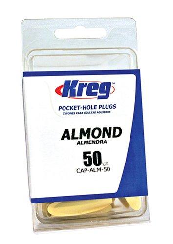 Almond Plastic Plugs (Kreg CAP-ALM-50 Almond Plastic Plugs 50-Count)