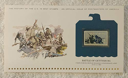 Battle of Gettysburg - Union Forces Defeat Invading Confederate Army - Postage Stamp (1963) & Art Panel - History of the United States: an official issue of Postmasters of America - Limited Edition, 1979 - Civil War