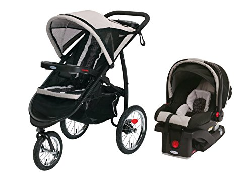 Graco Pierce FastAction Jogger Stroller with SnugRide 30 Click Connect Car Seat