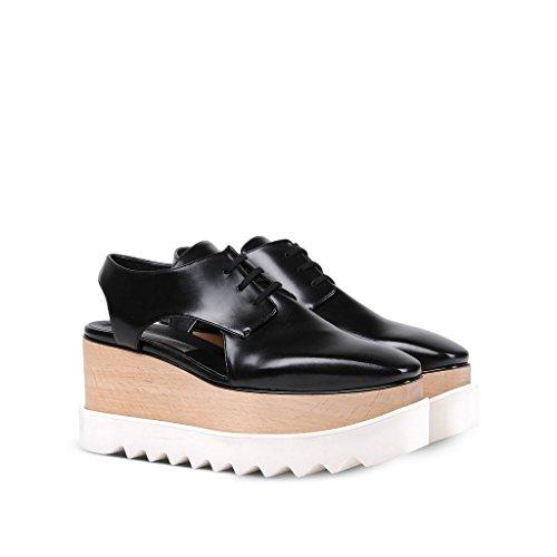 Stella Negro Zapatos Mujer Poliuretano Mccartney De 412263W0XH01000 Cordones OrPzO6