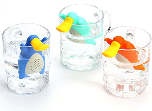 Bekith 3 Pack Silicone Platypus Loose Leaf Tea Infuser Strainer for Herbal Weight Loss Tea and Mulling Spices