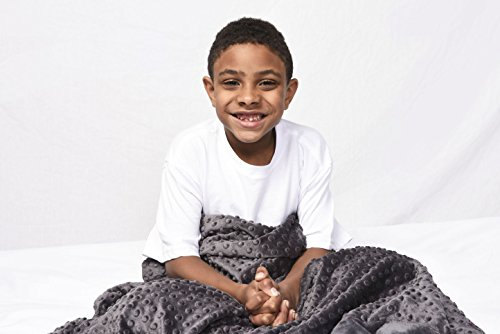 """Price comparison product image Creature Commforts Weighted Blanket by for kids - Medium 6 pounds 30"""" x 40""""   Sleep better, Great for ADHD, Autism, PTSD, Anxiety   Removable minky cover, organic insert   Made in USA"""