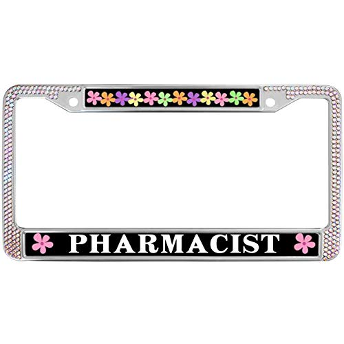GND Auto License Plate Frame,Stainless Steel Car License Plate Frame Pharmacist License Plate Frame Protective License Plate Frame for US Standard