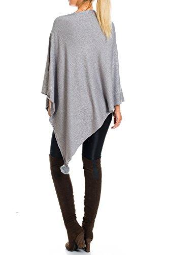 Kendindza Collection - Poncho - capa - para mujer gris