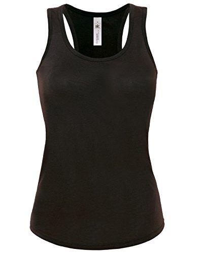 B y C Lady Patti Classic Collection de costura para chalecos de costura para camisetas de mujer sin mangas de mujer cuello redondo cuello amplia para que patrones de costura para camisas negro