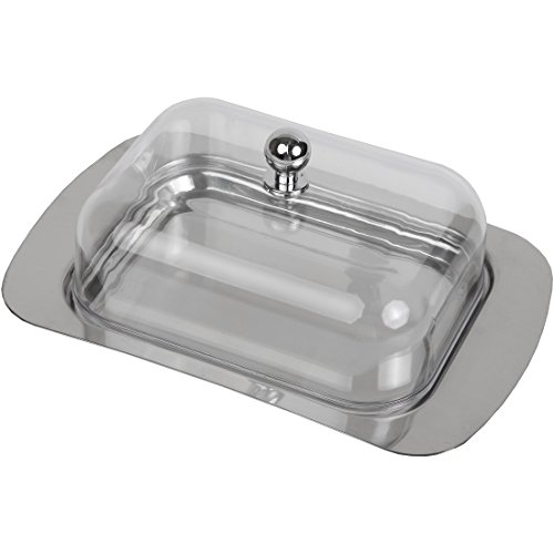 Home-X Stainless Steel Butter Dish (Butter Dish Clay compare prices)
