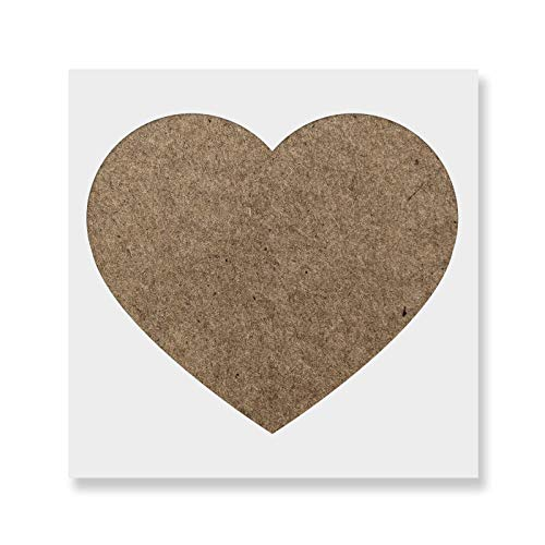 Heart Stencil Template for Walls and Crafts - Reusable Stencils for Painting in Small & Large ()