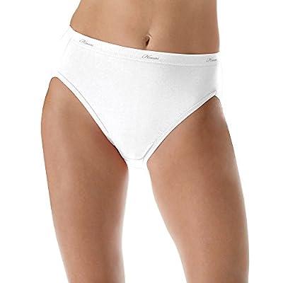 Hanes Womens No Ride Up Cotton Hi-Cut Panties 6-Pack (PP43WB)