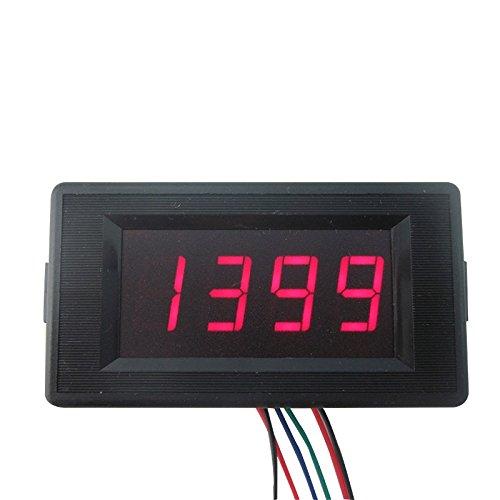 DIGITEN Dc 24v 4 Digit Digital LED Counter Panel Meter up and Down Totalizer 0-9999 RED