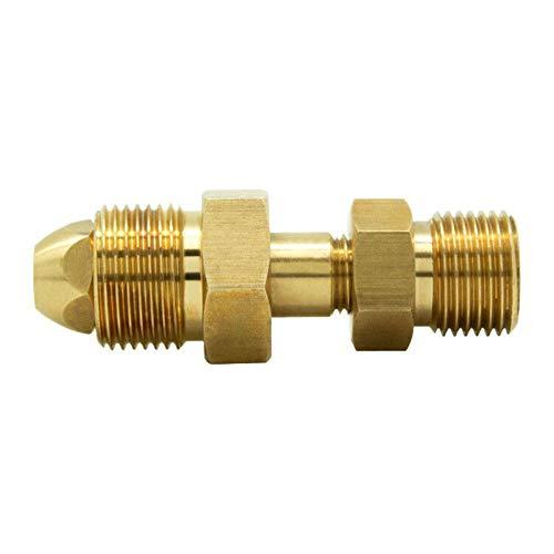Gurlleu Universal CGA580 to CGA320 CO2 Cylinder Inlet Adapter Carbon Dioxide Tank to Argon Flowmeter Regulator Fittings