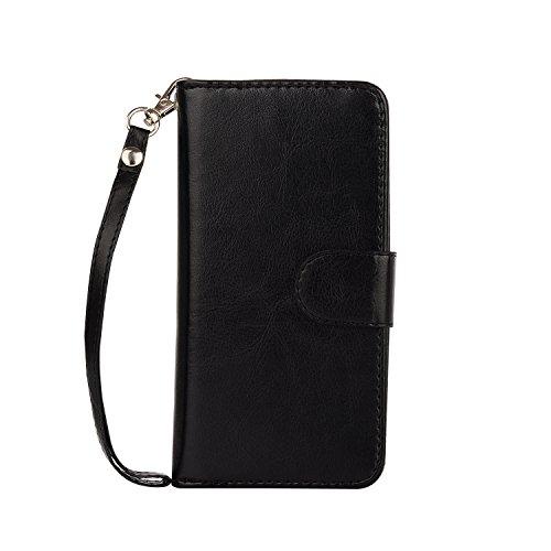 iPhone 6 Plus Wallet Case, iPhone 6s Plus Case, SUPZY Leather Detachable Magnetic Flip 9 Card Slots Holder Wrist Strap Purse Removable Slim Protective Cover for iPhone 6/6s Plus