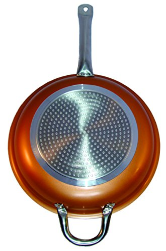 Cooper Frying Pan 12 Inch Non Sick Ceramic Infused