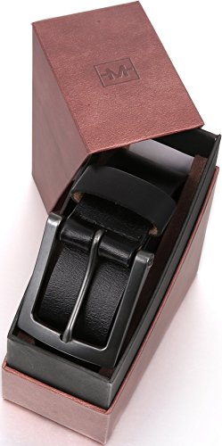 "1.5/"" Width Classic Jean Style Marino Avenue Men's Genuine Leather Belt"