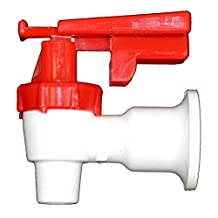 Water Dispenser Cooler Replacement Faucet - Red Handle (Hot)