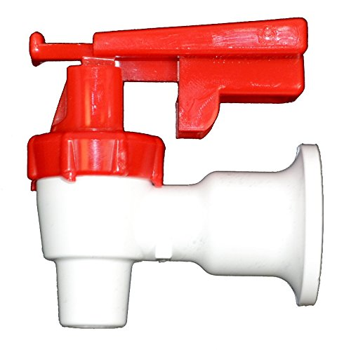 Tomlinson 1009470 White Cooler Replacement Faucet - Red Touch Guard - Faucet Components