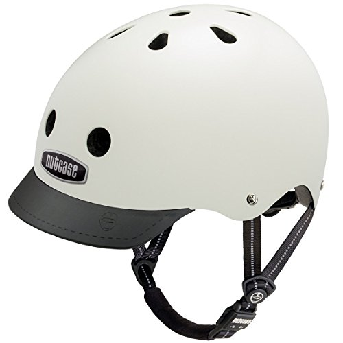 Nutcase Solid Street Bike Helmet for Adults, Cream, Small