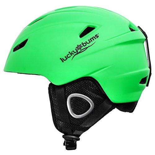 Lucky Bums Powder Series, Snow Sport Helmet, Green, Medium - Lucky Bums Snowboard Helmet