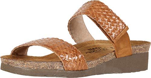 NAOT Footwear Women's Wizard Wedge Sandal Maple Braid/Amber Nubuck 10 M US