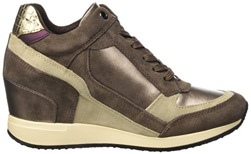 A Chestnutc9h6j Nydame Lead para Altas Zapatillas Mujer Braun D Geox FCwzEE