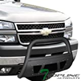 2002 chevy suburban grill guard - Topline Autopart Matte Black Studded Mesh Bull Bar Brush Push Front Bumper Grill Grille Guard With Skid Plate For 99-07 Chevy Silverado/00-06 Suburban ; 99-07 GMC Sierra/00-06 Yukon 2500 HD/3500