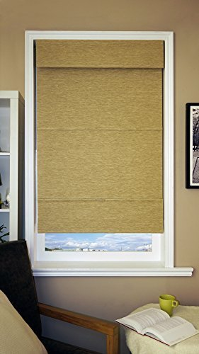 Chicology Jamaican Antique Gold Mag Roman Shade, 27 by 64-Inch, Antique Gold by Chicology by CHICOLOGY