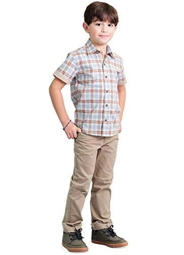 Dakomoda Toddler Boys' Cotton Classic Khaki Five-Pocket Adjustable Waist Pants Jeans 5T