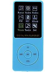 Kleur TFT-scherm MP3 MP4 Muziekspeler Ondersteuning Muziek MP3 MP4-formaat Draagbare USB2.0-audio voor wandelen Reizen Kantoor(blue)