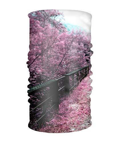4a4e8d7a7b27 EHLMGSC Outdoor Magic Headband Elastic Sakura Flower Scarf UV Resistence  Sport Headwear